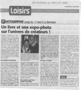 """Fabienne alliou-lucas et Ikhda Ayuning Maharsi,Article Presse , Exposition et Sortie du Livre"""" Ateliers d'Artistes"""" ,Couriers du Pays de Retz, 17/04/2015"""