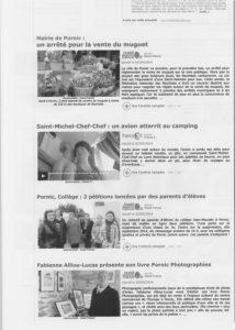 """Fabienne Alliou-lucas,article de presse ,Ouest-france du 2:05:14 pour la sortie du Livre de Photographies """" Pornic Photographies"""" ,2014, Pornic, France"""