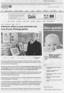 """Exposition de photographiques """"Pornic"""" à la Galerie de l'Arche,Pornic,France,Article presse fabienne alliou-lucas,2014"""