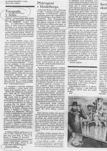 Fabienne Alliou-lucas, Article écrit pour les RIP pour le journal ATELIER STRANA ,1989 ,Prague , Tchèquie